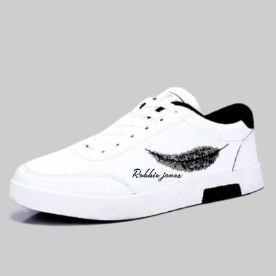 Robbie jones Casual Sneakers Shoes For Men Sneakers For Men(White)