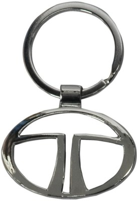 AutoSun TA-10 Chrome Plated Steel Imported Key Chain Key Ring Car Logo For TATA Key Chain  available at flipkart for Rs.248