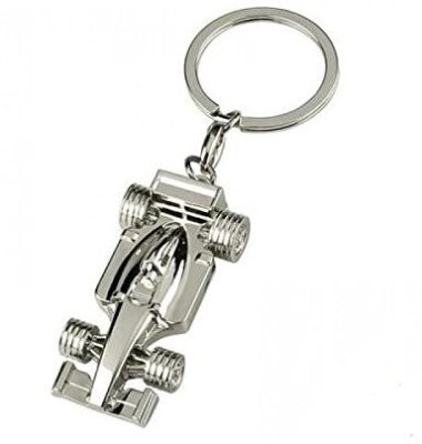 CTW Ferrari Racing Car Metal Key Chain(Silver)  available at flipkart for Rs.206