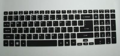 Saco SiliconeChiclet ProtectorCoverFitforAcer Aspire V5 Series 573G 74508G1Taii Laptop Keyboard Skin Black, Transparent