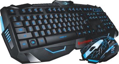 MARVO Scorpion Black Light Wired Gaming Keyboard and Mouse Combo Wired USB Gaming Keyboard(Black)
