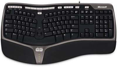 Microsoft Natural Ergonomic 4000 Wired USB Laptop Keyboard(Black & Grey)