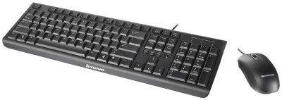Lenovo KM4802 USB 2.0 Keyboard and Mouse Combo Black