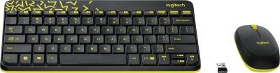 Logitech MK240 Wireless Keyboard and Mouse Combo(Black&Chartreuse Yellow)