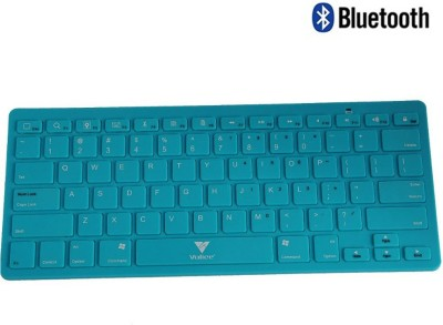 Callmate Bluetooth Keyboard with B.T USB Dongle - Sky Blue Bluetooth Laptop Keyboard(Sky Blue) at flipkart