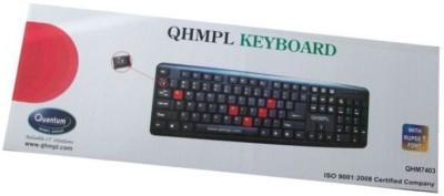 Quantum qhm7403w Wired USB Gaming Keyboard Black Quantum Controllers