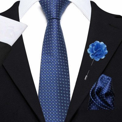AXLON Satin Tie Pin Set(Blue)