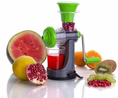 SAXAT Plastic Hand Juicer For Fruit & Vegetable with Vaccum lock system and steel handle Manual Juicer, Multicolour(Multicolor Pack of...
