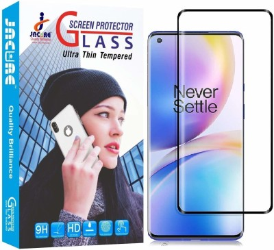 Jacure Edge To Edge Tempered Glass for Jacure™ Designed For Oneplus 8 Tempered Glass Edge to Edge HD-Clear Full View [Side Adhesive][Full Coverage] [Bubble-Free][Case Friendly][Curved]Tempered Glass One Plus 8(Pack of 1)