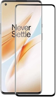 Jacure Edge To Edge Tempered Glass for Jacure™ Designed for Oneplus 8 Tempered Glass Full Coverage Edge to Edge Bubble Free Full Glue 3D Touch Accuracy HD Clear Easy Install(Pack of 1)