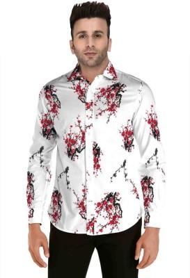 FABFIZA Cotton Silk Blend Floral Print Shirt Fabric(Unstitched)