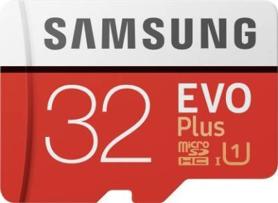 SAMSUNG EVO Plus 32 GB SD Card Class 10 95 MB/s Memory Card(With Adapter)