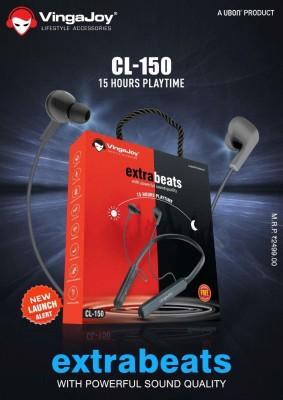 VINGAJOY _CL150_BT Bluetooth Headset(GREY/BLACK, In the Ear)