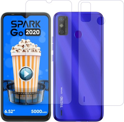 FashionCraft Front and Back Screen Guard for Tecno Spark Go 2020(Pack of 2)