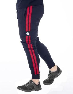 FastColors track pants lower men mens wear boys Solid Men Blue Track Pants