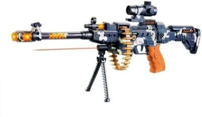 FTAFAT Musical Gun, Laser Light Range upto750 Meter, 360d Belt Rotation, Vibrations. Army Gun Toy(Multicolor)