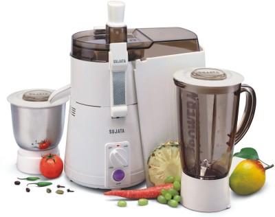 Sujata by SUJATA Powermatic Plus 900 W Juicer Mixer Grinder (2 Jars, White)