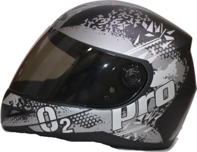 Bvcorp BLACK SPORT O2 HELMET ISI APPROVED PREMIUM HEAD GEAR Motorbike Helmet(Black, Silver)