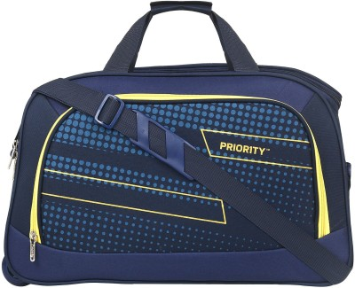 Priority 24 inch/60 cm  Expandable  Arc Duffel With Wheels  Strolley  Blue Priority Duffel Bags