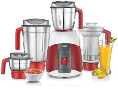 Prestige Elegant V2 4 Jars 750W 750 Mixer Grinder (4 Jars, White, Red)