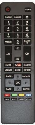 ComC LED/LCD Remote No. 18H, Compatible with LCD/LED TV Remote Control - Old Remote Functions Must be Exactly Same Haier Remote Controller(Black)