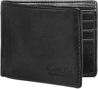 Costa Swiss Men Black Genuine Leather Wallet 6 Card Slots Costa Swiss Wallets