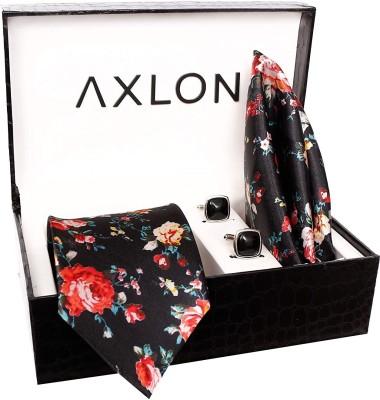 AXLON Satin Tie & Cufflink(Black)