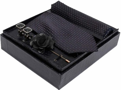 AXLON Satin Tie & Cufflink(Black)