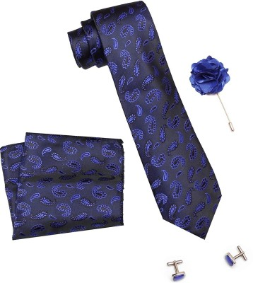 AXLON Satin Tie & Cufflink(Blue)