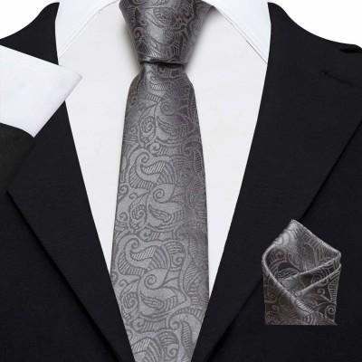 AXLON Satin Tie Pin Set(Grey)