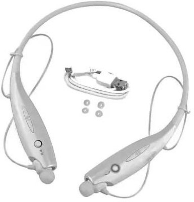 SULFUR Wonderful BASS Neackband for RE_DM_I/Op-po/ VI-VO all moblie Bluetooth Headset(White, In the Ear)