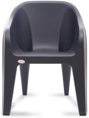 Restomatt Plastic Outdoor Chair(Black)