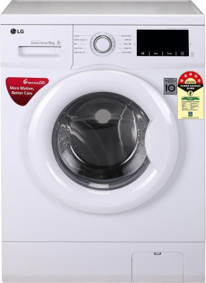 LG 6 kg Fully Automatic Front Load with In built Heater White FHM1006ZDW LG Washing Machines