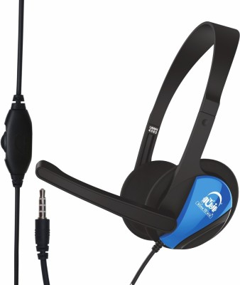 U&i Gamer Series with Volume Control Wired Headphone Wired Headset Gaming Headphone(Blue, On the Ear)