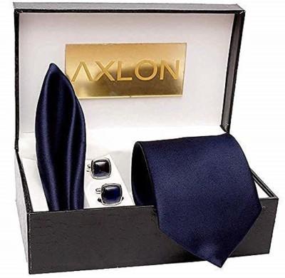 AXLON Satin Tie & Cufflink(Blue)