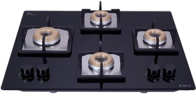 Elica Flexi HCT 460 LOTUS BRASS Glass Automatic Hob(4 Burners)