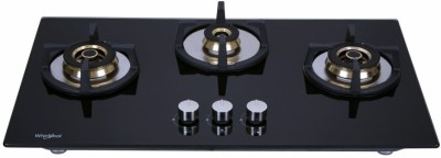 Whirlpool ELITE PRO BRASS HYBRID 753 MT Glass Automatic Hob(3 Burners)