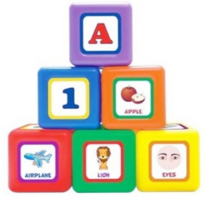 Little's 6 in 1 Jumbo Blocks Multicolor Little's Educational Toys