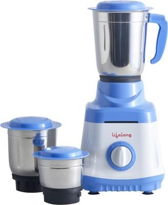 Lifelong Bolt LLMG70 750 W Mixer Grinder(White, Blue, 3 Jars)
