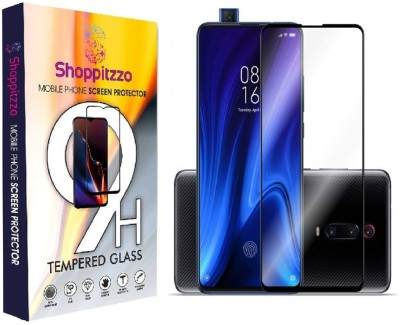 Shoppitzzo Edge To Edge Tempered Glass for Realme X2 Pro::11D,9H,Oleophobic Coated,Anti Scratch,with easy installation kit (Colour-Black)(Pack of 2)