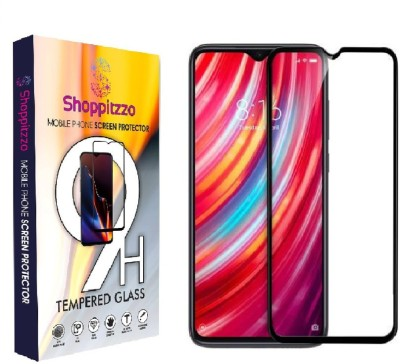 Shoppitzzo Edge To Edge Tempered Glass for SHOPPITZZO Xiaomi Redmi 9i, 11D,9H,Oleophobic Coated,Anti Scratch,with easy installation kit (Colour-Black)(Pack of 2)