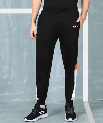 M7 by Metronaut Solid Men Black Track Pants