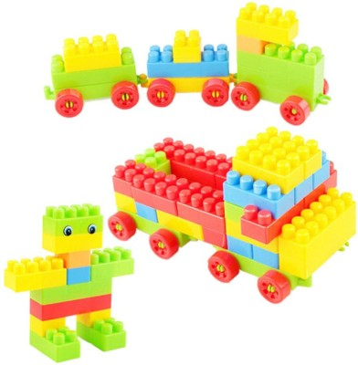 BOZICA 100% GOOD QUALITY Toys Building Blocks for Kid Toys Multi-Character Colorful DIY for Children with Car Shaped Backpack(Multicolor)