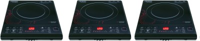 USHA IC3616 PACK OF 3 Induction Cooktop(Black, Touch Panel)