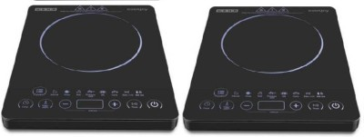 USHA IC 3820 PACK OF 2 Induction Cooktop(Black, Touch Panel)