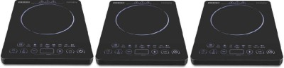 USHA IC 3820 PACK OF 3 Induction Cooktop(Black, Touch Panel)