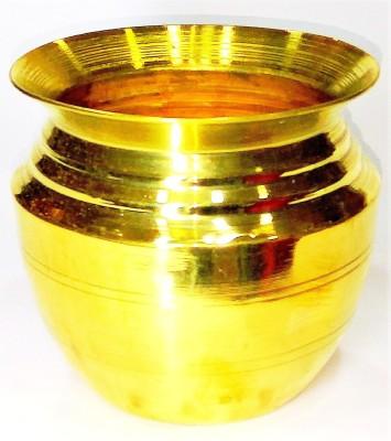 VGS MARKETINGS BRASS POOJA SOMBU KALASAM KALASA SOMBU KJal Kalash, Lota Kalasham Pal SOMBU Chambu Jal Patra POT Vadakalai Thiruman Kudam Naamam Sangu Chakra Kudam Ghada Handi Lota for Pooja Pongal Sankranti Puja Marriage Karvachauth Homam sombu pot Brass Kalash(Gold)