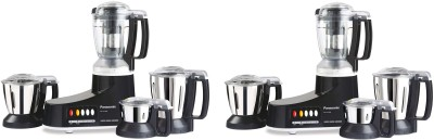 Panasonic MX-AC400B PACK OF 2 550 Juicer Mixer Grinder(Black, 4 Jars)