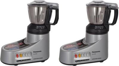 Panasonic MX-AC400 PACK OF 2 550 Mixer Grinder(Silver, 2 Jars)