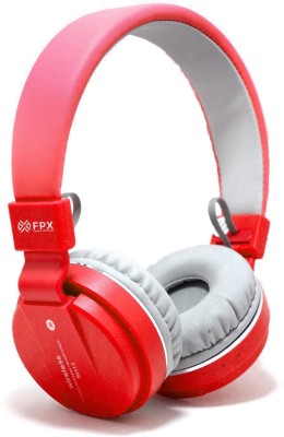 FPX Trip Go- Wireless Bluetooth Headset Bluetooth Headset(Red, On the Ear)
